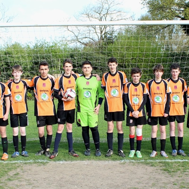 Hearts FC Tigers Under 16's beat Old Windsor Tigers Black 0 - 4