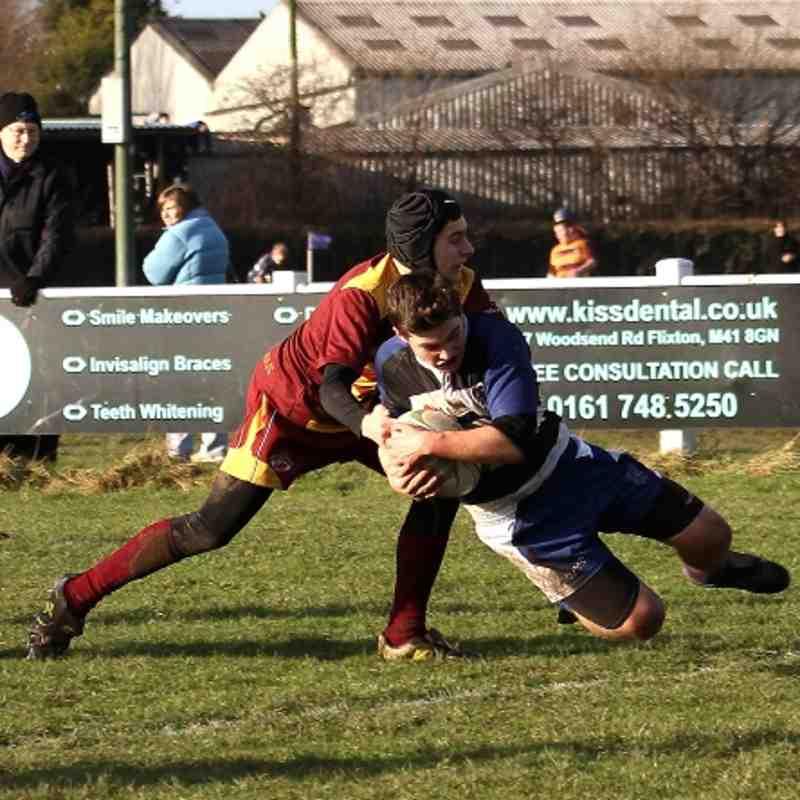 U15s TMV Hawks 22 - Sedgley Park 05 (Lanc Cup round) 16/12/12