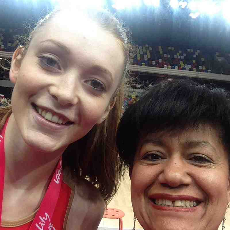 Mixing with England Netball heroes