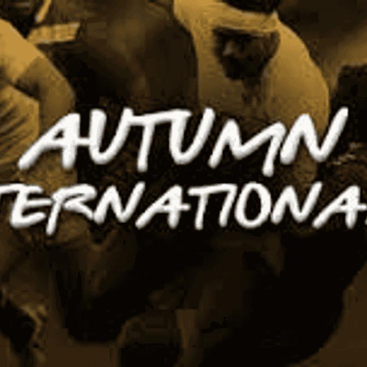 Update on Autumn Internationals - Tickets