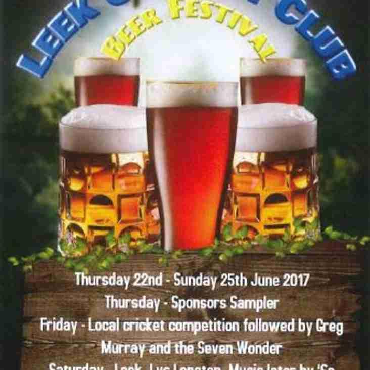 Leek Cricket Club Annual Beer Festival