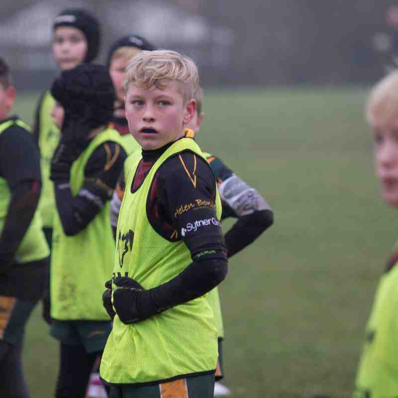 U11s 14/15 have a hard practice - 15 Feb 2015