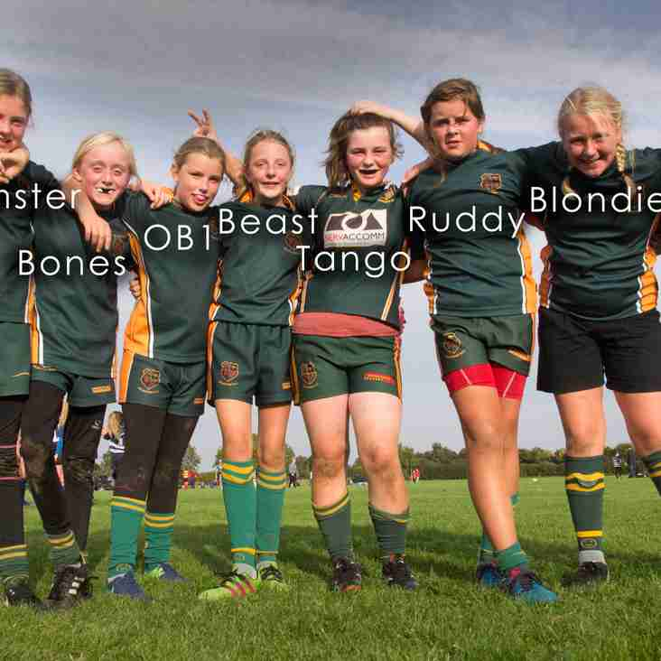 The Minxes U13s Squad of 18/19 takes shape