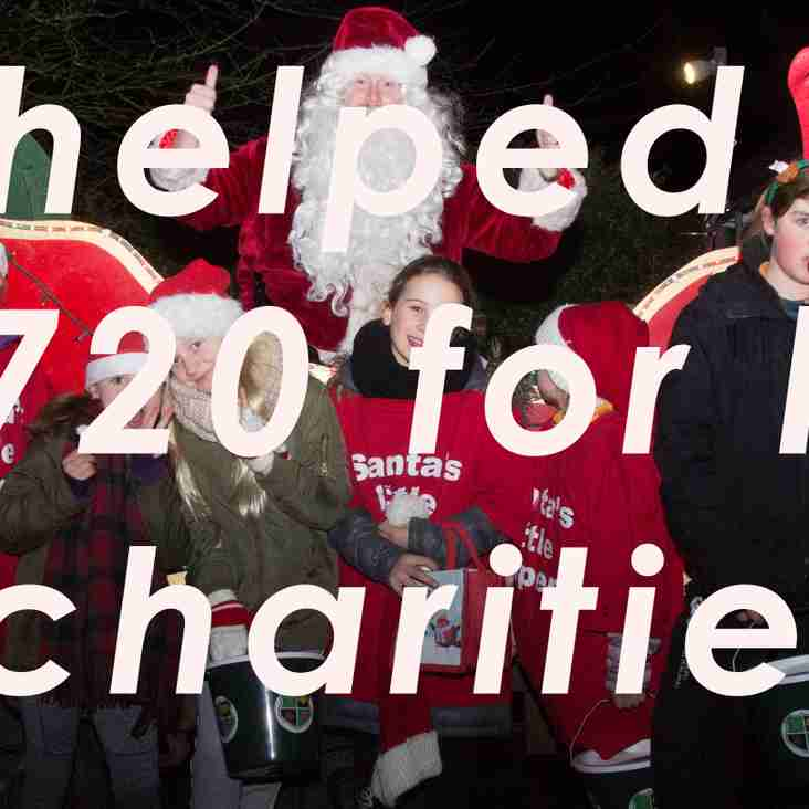 Minxes give Santa's Sleigh a big push - £1,720 raised overall