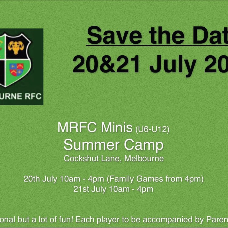 The MRFC Minis Summer Camp