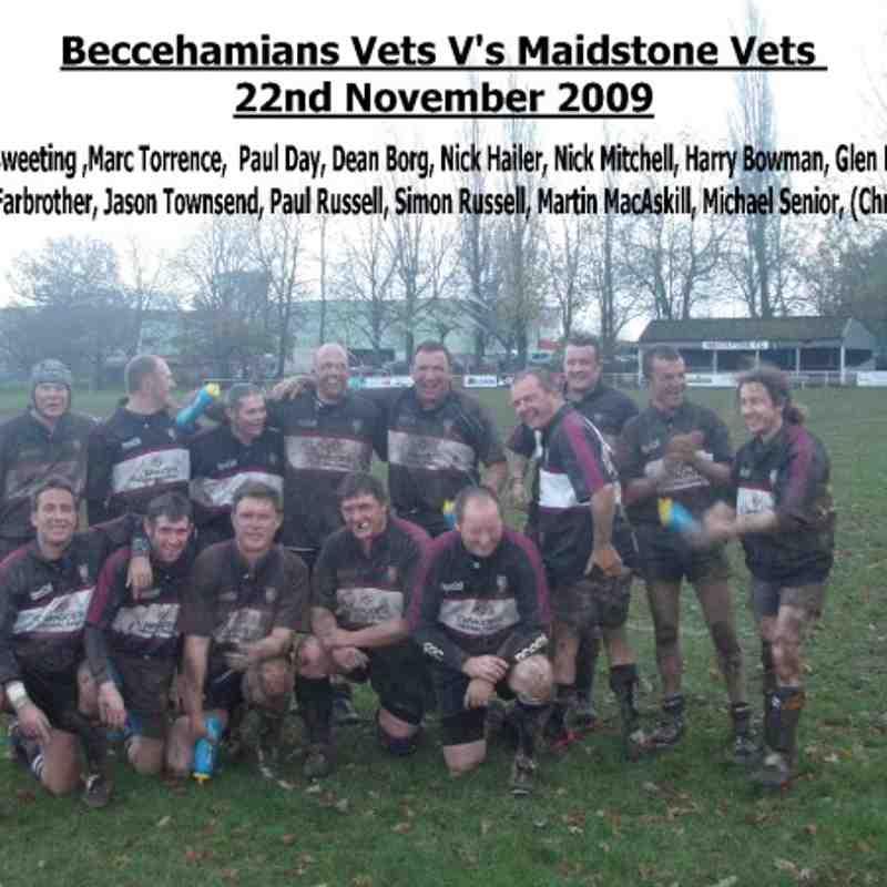 Beccs Vets v Maidstone Vets (221109)