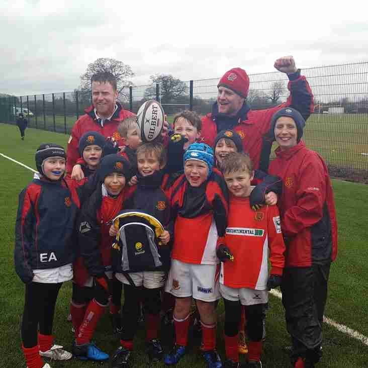 Whitchurch U9s Wondrous Win in Worcester.