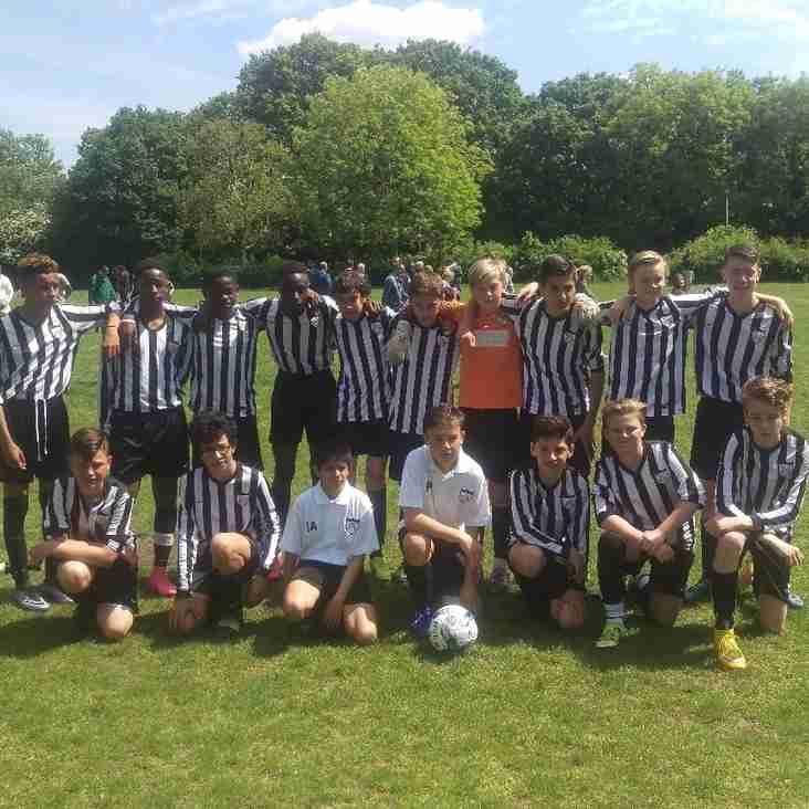 League trophy cup winners Under 14 A. 2015/16