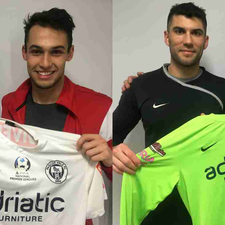 Pascoe Vale Signs Philippe Bernabo-Madrid and Peter Gavalas