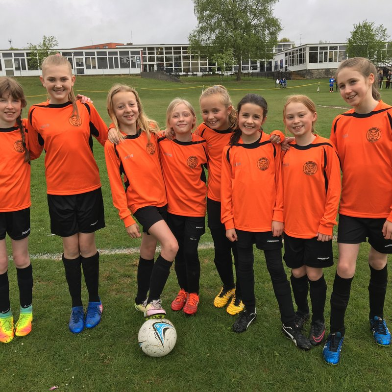 First taste of action for Girls U10's