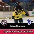 Jason Newman signs for the Bison & Buffalo