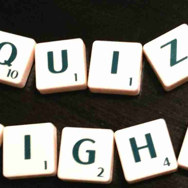 Quiz night is on 5th March