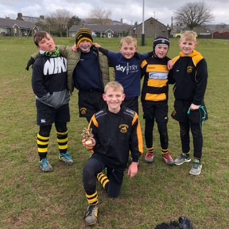 Under 10s take on teams and the weather at Egremont Festival