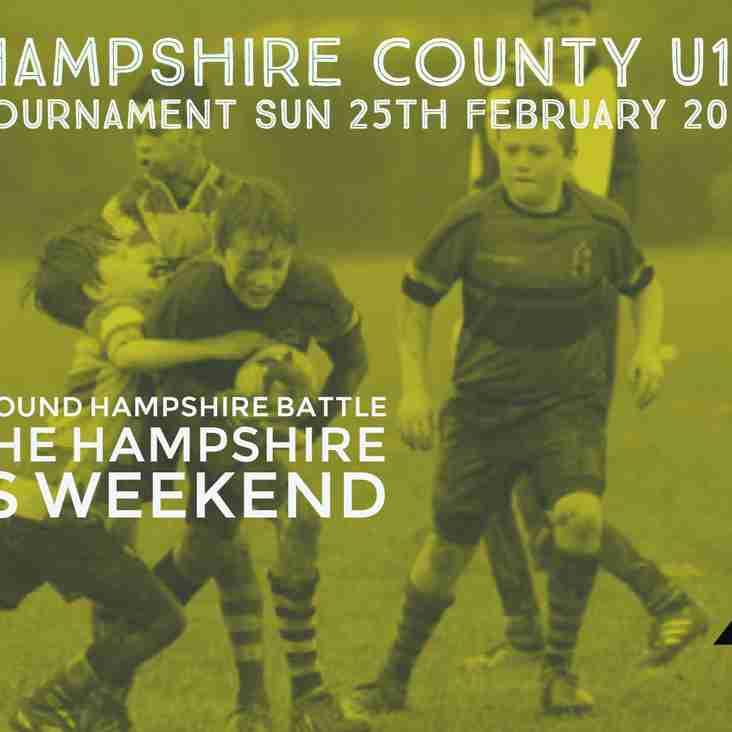 U12's Hampshire Cup Sun 25th Feb