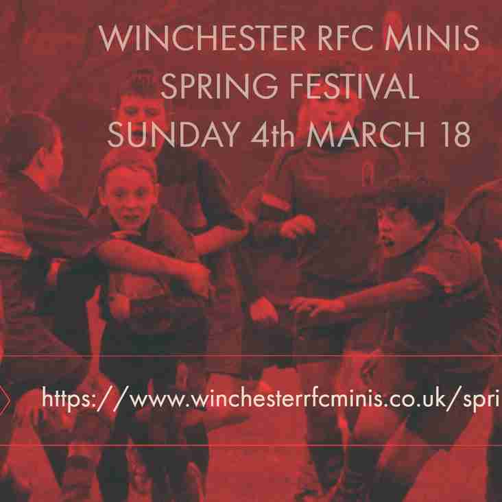 WINCHESTER MINIS SPRING FESTIVAL 4th MARCH 2018 - POSTPONED