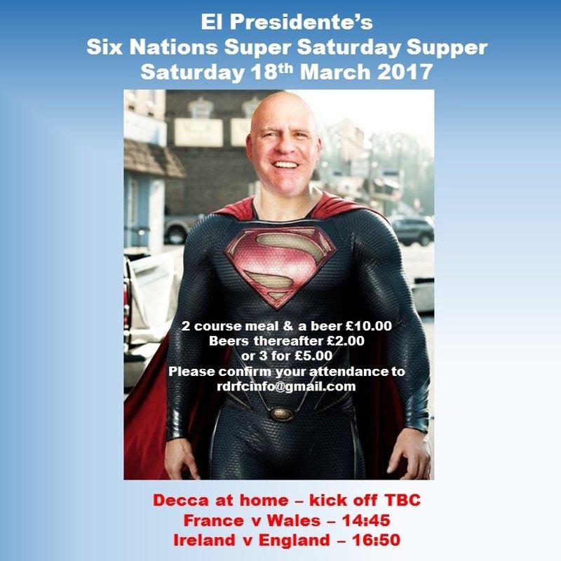El Presidente - Six Nations Super Saturday Supper