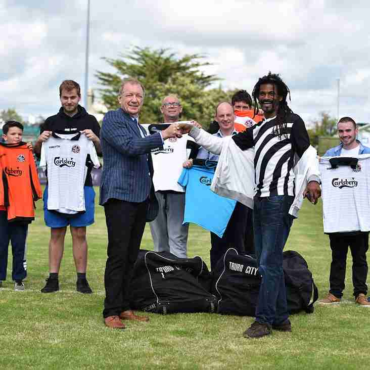 TRURO CITY FOOTBALL CLUB SUPPORTS COMMUNITY FOOTBALL IN CORNWALL