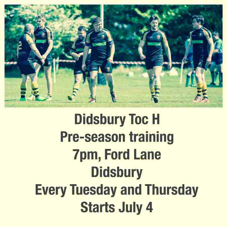 Preseason has started, so come down