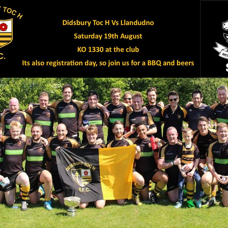 Registration Day BBQ- First Home Game against Llandudno