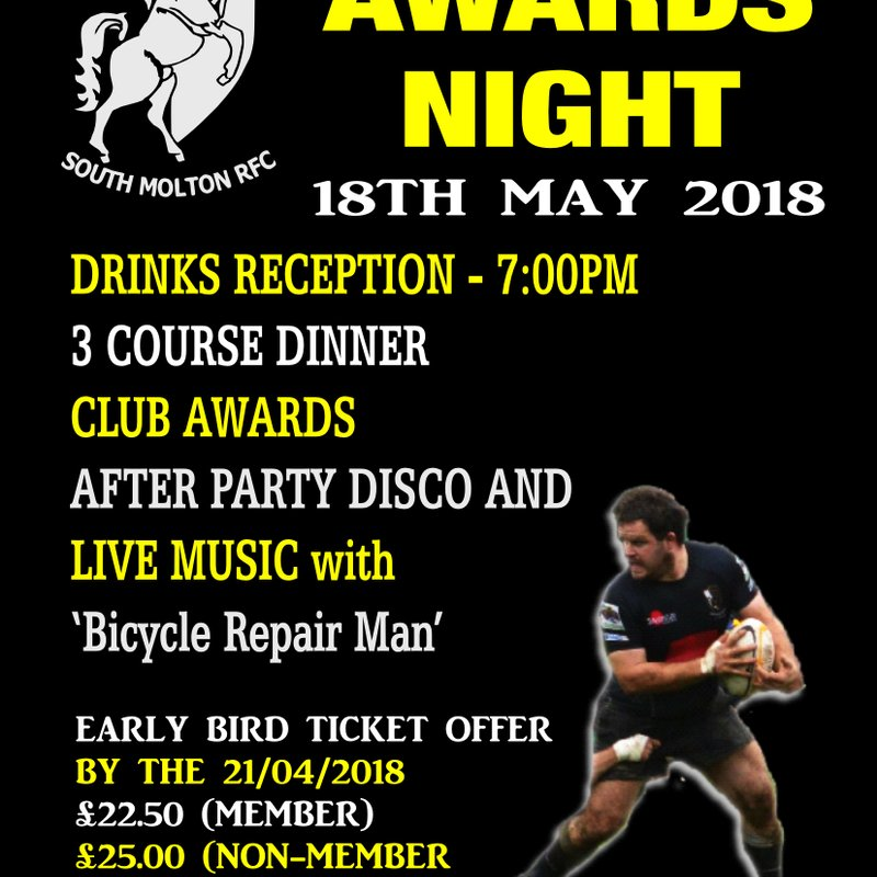 South Molton RFC Dinner & Dance Awards Night 2018