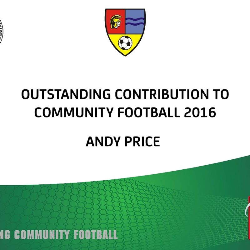 Andy Price - FA award for the People's Choice – Outstanding Contribution to Community Football.
