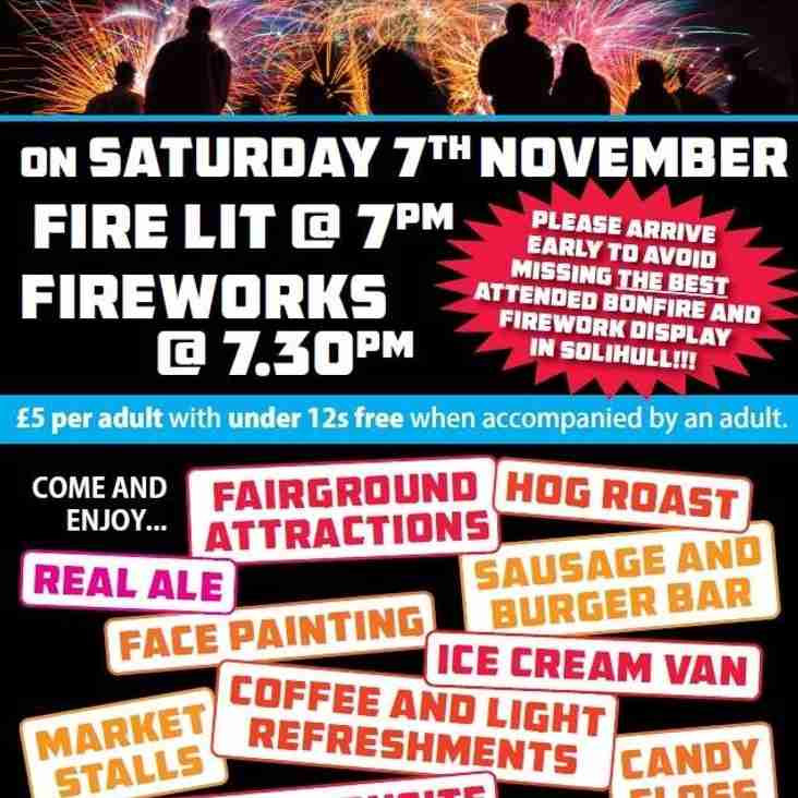 Edwardian FC Fireworks Night 2015!