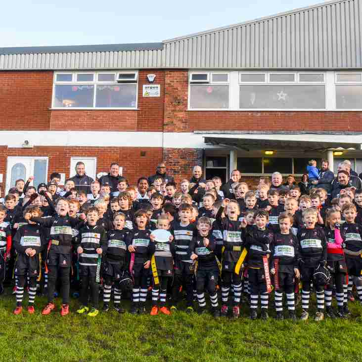 Wigan Mini and Junior Section Awarded RFU Kids First Champion Club