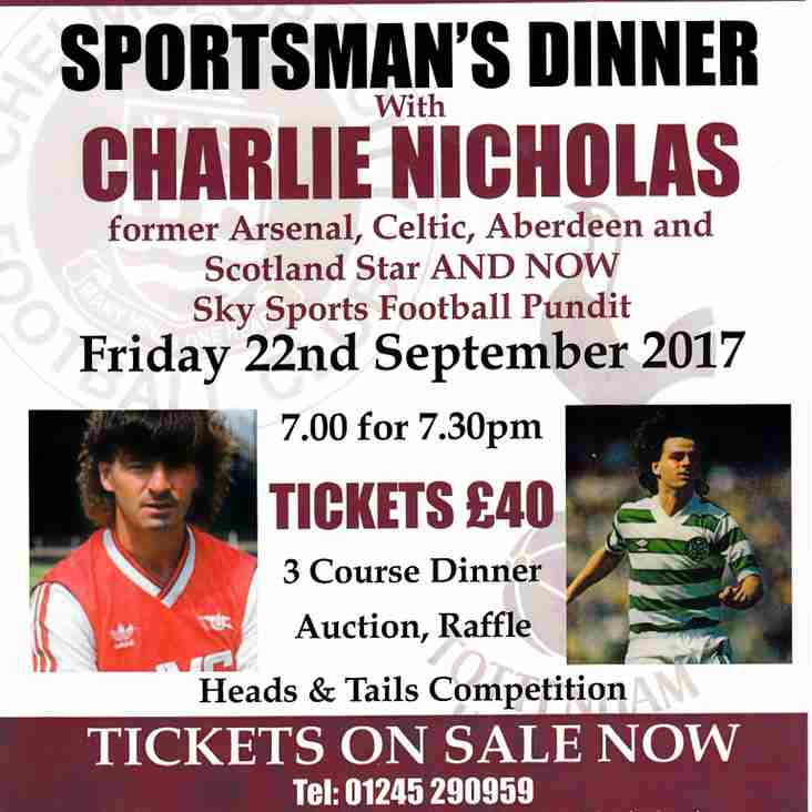 Sportsman's Dinner With Charlie Nicholas 22nd September 2017