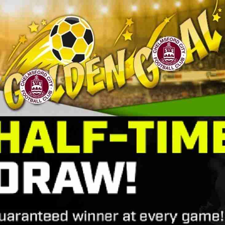 Goalden Goals and Half-time Draw Winners: Saturday 2nd December 2017