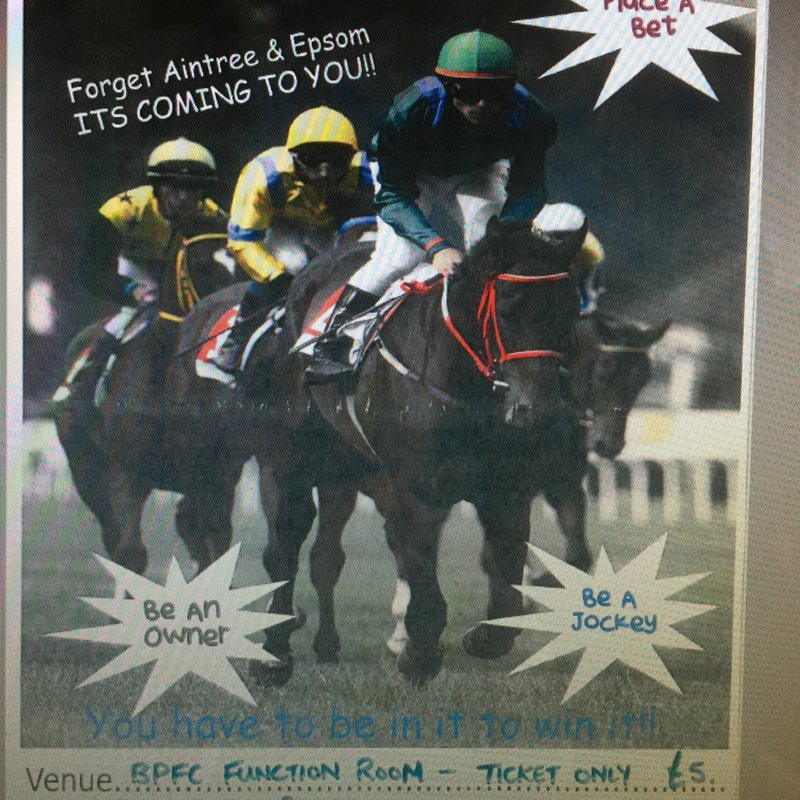BPFC Race Night- Friday 29th Sept