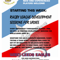 LADIES DEVELOPMENT SESSIONS THROUGHOUT AUGUST