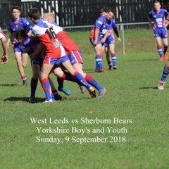 West Leeds vs Sherburn Bears - 9 September 2018 - Boys U16s