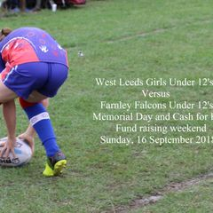 West Leeds Girls Vs Farnley Falcons Under 12's. 16 September 2018