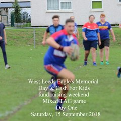 West Leeds Eagles ARLFC Memorial Day and Cash for Kids campaign mixed tag game - Sat., 15 Sept 2018 (Album One)  #cfksportschallenge