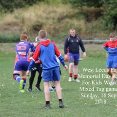 West Leeds Eagles Memorial and Cash for kids weekend - tag and touch Day 2 - 16 Sept 2018. #cfksportschallenge