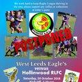 West Leeds Eagles Men Vs Hollingwood game postponed