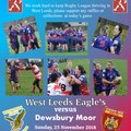 Eagle's Women Hope to return to winning ways against Dewsbury