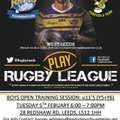 Leeds Rhino's Foundation Boy's Open Training Session at West Leeds Eagles