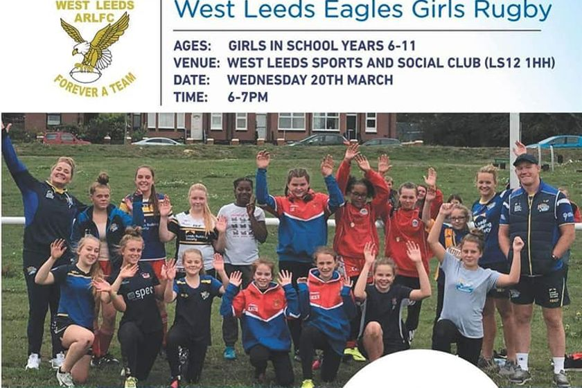 Girls Rugby Taster Session with the Rhinos at West Leeds Tonight