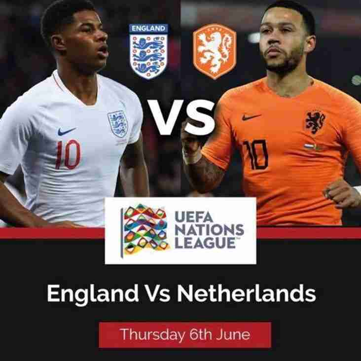 Watch England vs Netherlands at Farsley Celtic