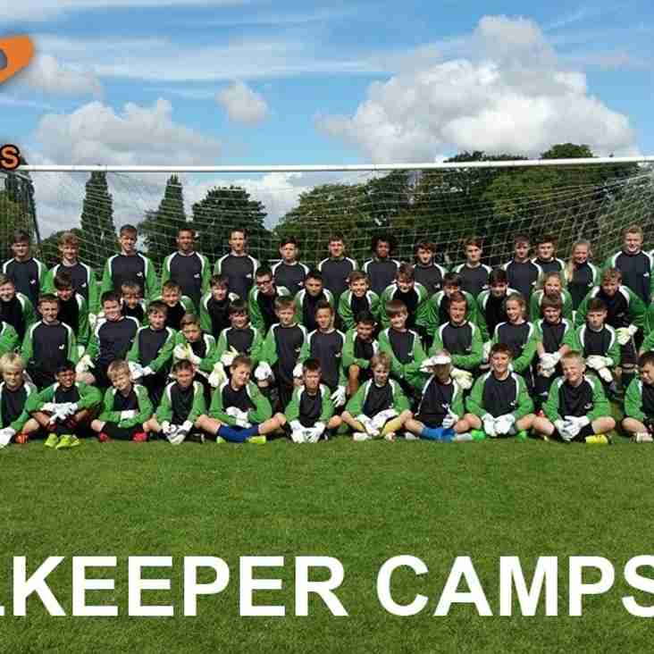 Half Term Goalkeeping Camp June 2nd & 3rd
