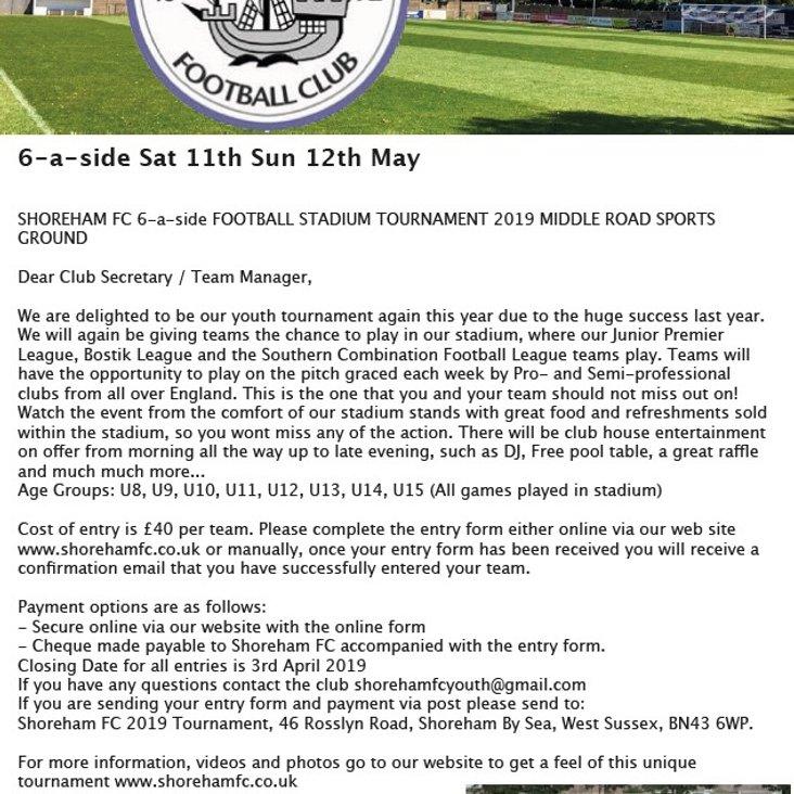 Shoreham FC Youth Stadium Tournament 2019<
