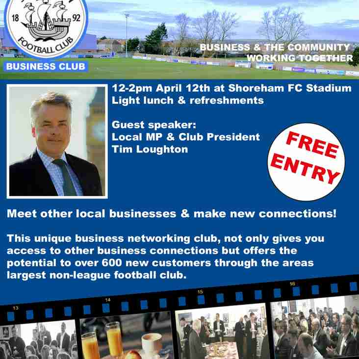 Shoreham FC Business Networking Event Club