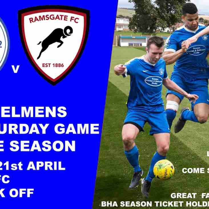 The last Saturday home game of the season