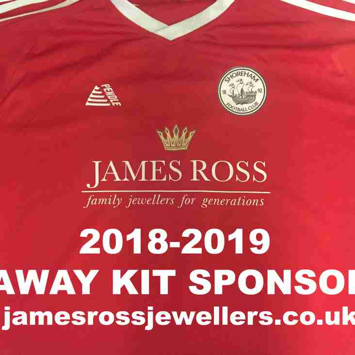 James Ross Jewellers Sponsors Shoreham FC