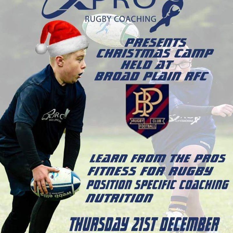 Broad Plain to host X pro Christmas Rugby camp