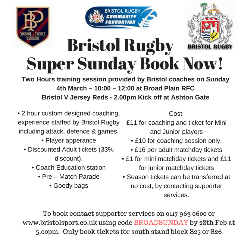 Super Sunday bookings now open!!!