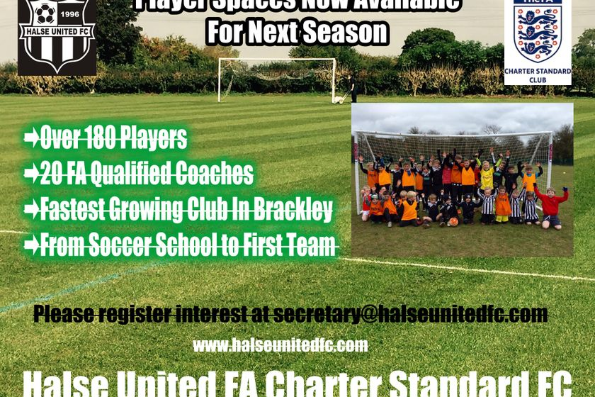 Now Recruiting Players For Next Season 2018/19