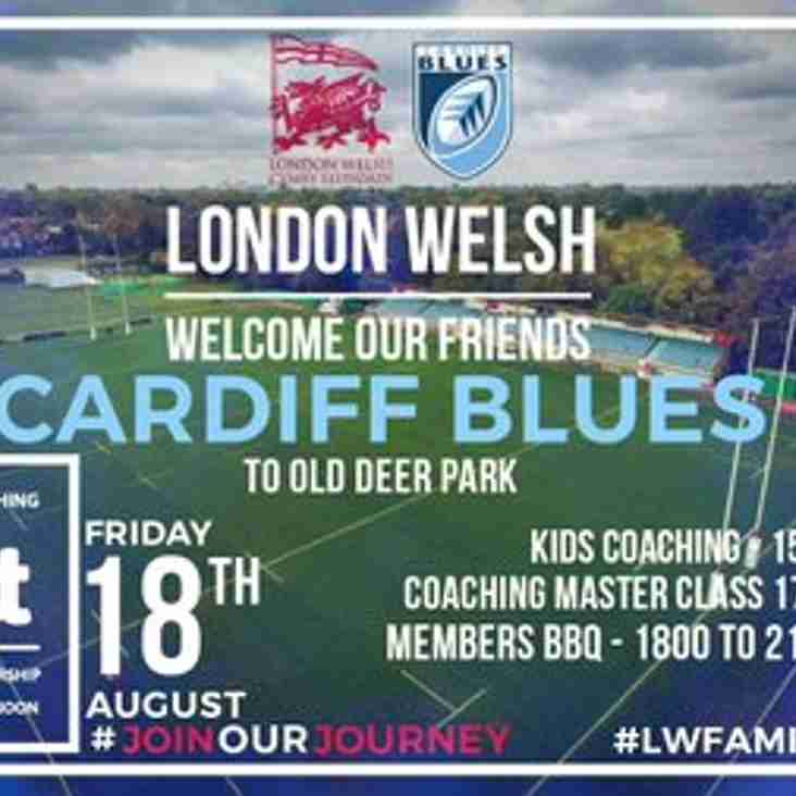 Cardiff Blues at Old Deer Park - Friday 18th Aug