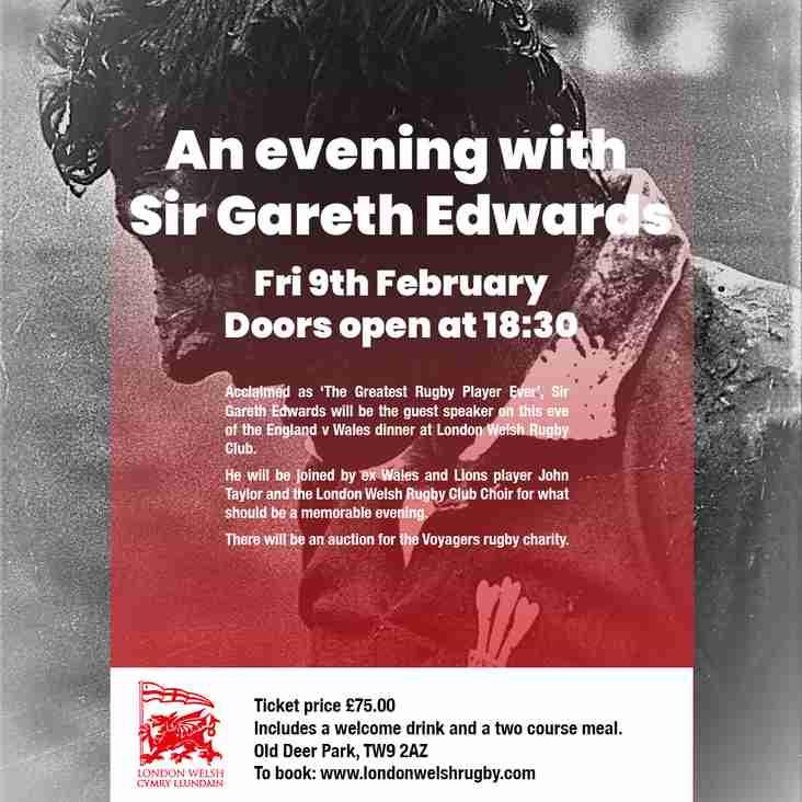 An Evening With Sir Gareth Edwards Friday 9th February 2018